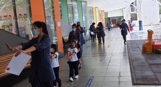 Simulacro de evacuación en Sedes First y Primary