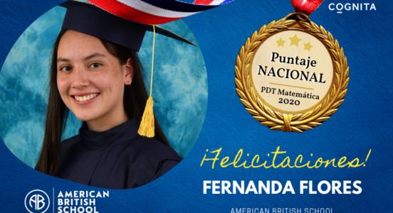 ¡Felicitamos a Fernanda Flores Soto por su Puntaje Nacional de Matemática 2020!